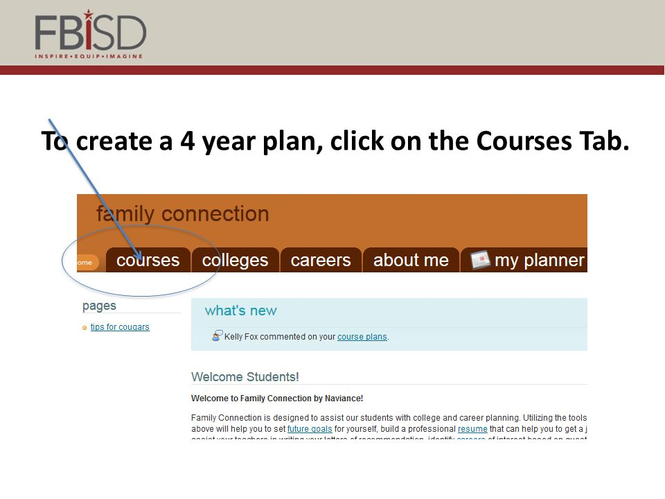 Naviance Course Planner Course planning in Naviance will help