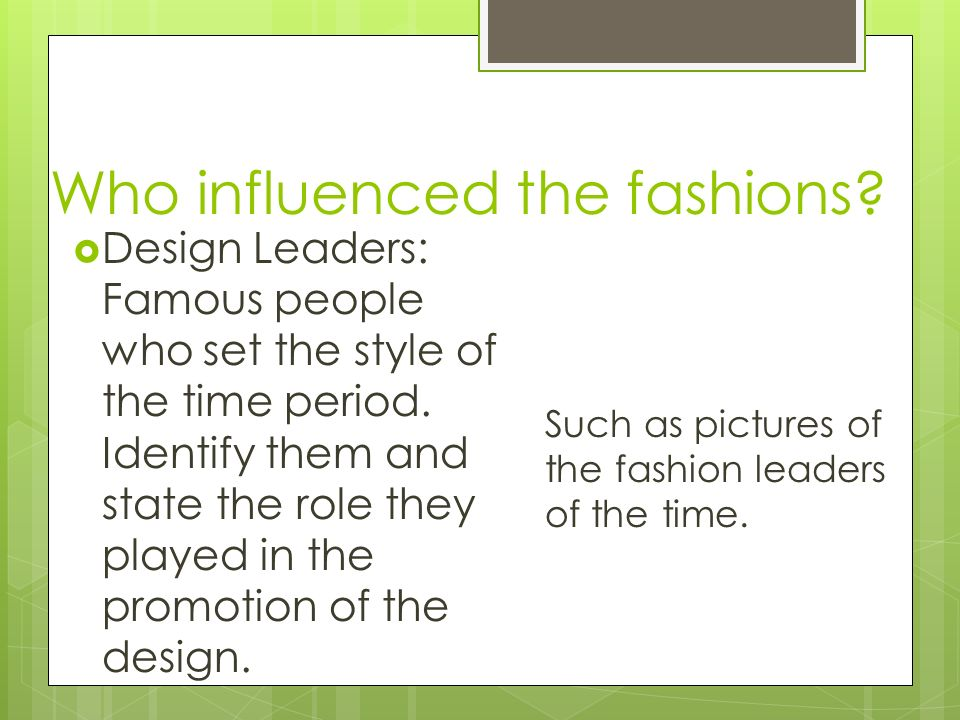 History of Fashion/ Interior Design Words and Quotes which describe
