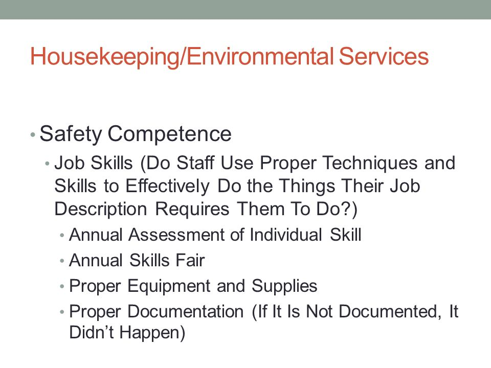 SURVEY READINESS FOR HOUSEKEEPING/ENVIRONMENTAL SERVICES Randy