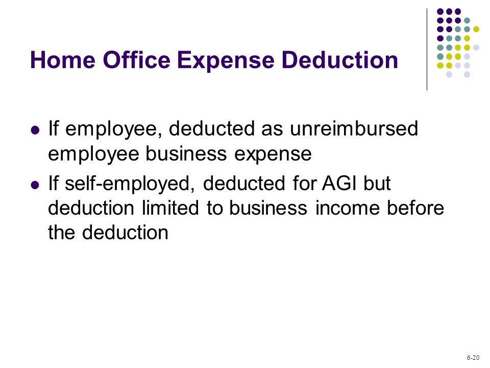 Unreimbursed Employee Expense Deducting Business Interest Expenses