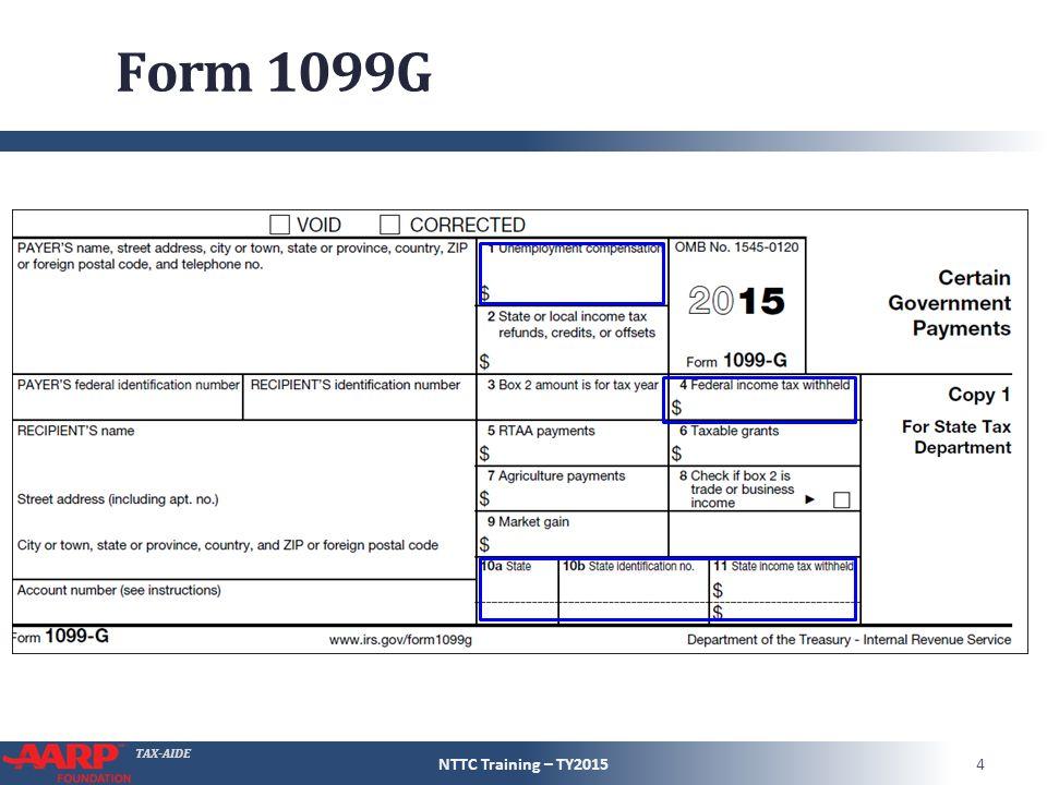 TAX-AIDE Unemployment Compensation Form 1040 \u2013 Line 19 Pub 4491