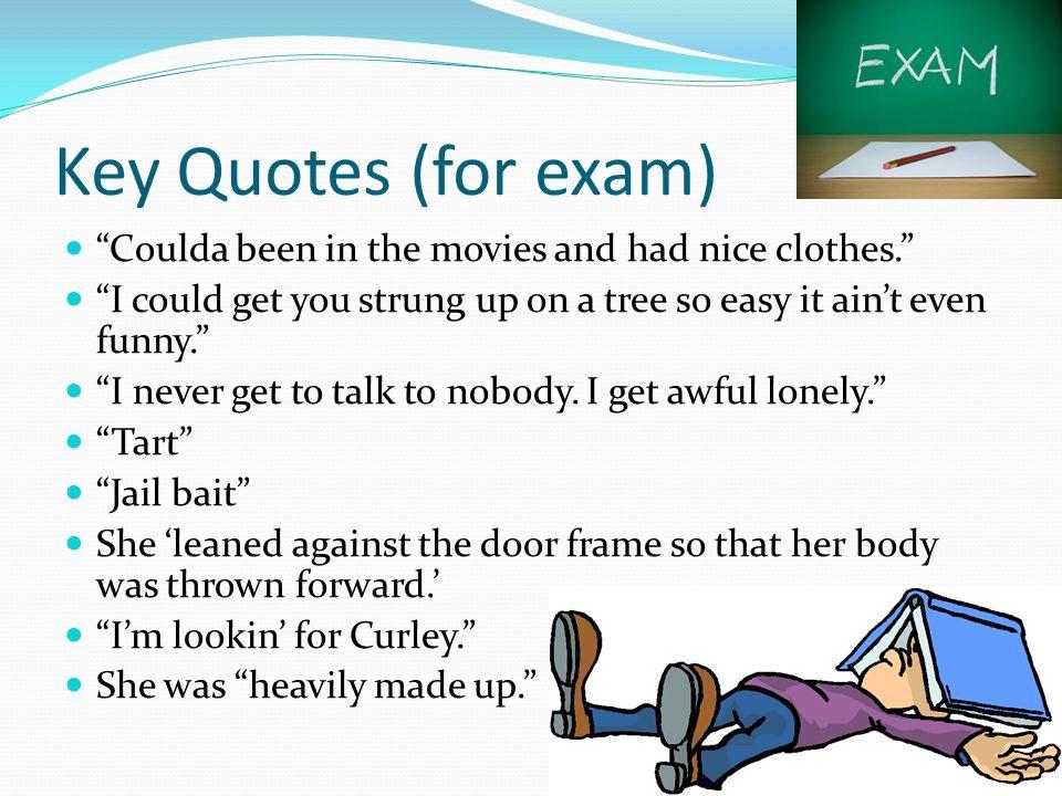 Curley\u0027s Wife Key Words/Phrases (Exam Technique) Vindictive