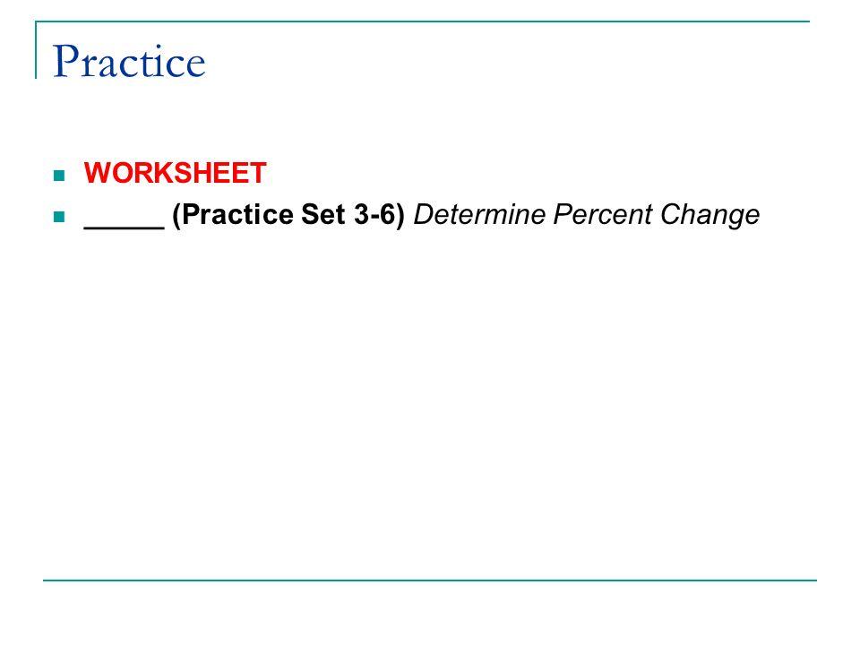 percents worksheet – Percent of Change Worksheet