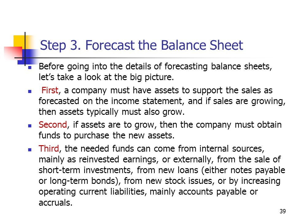 1 CHAPTER 9 Financial Planning and Forecasting Pro Forma Financial