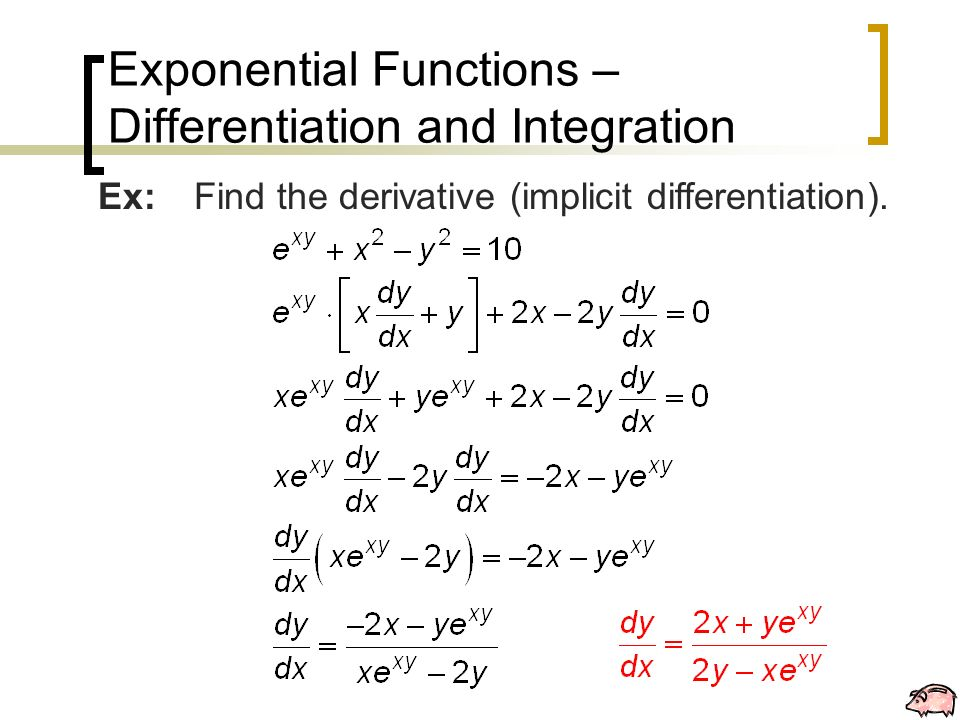 Exponential Functions \u2013 Differentiation and Integration - ppt download