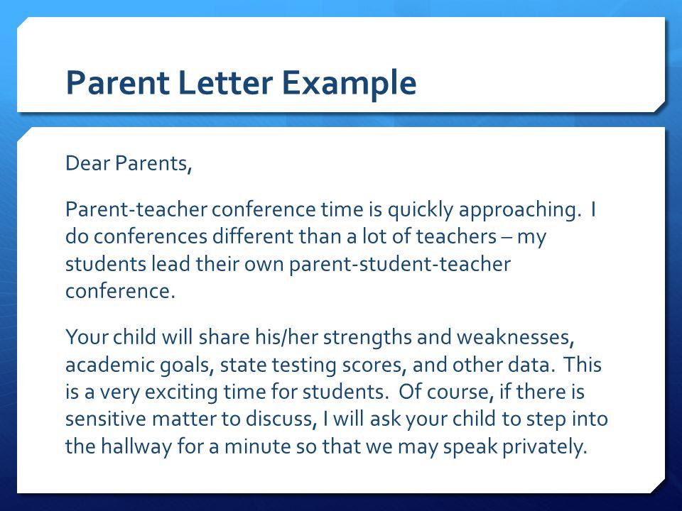 conference letters to parents - Pinarkubkireklamowe