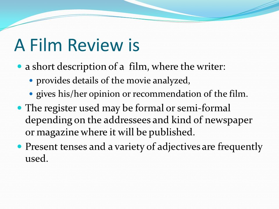 How to write a film review template Coursework Academic Service