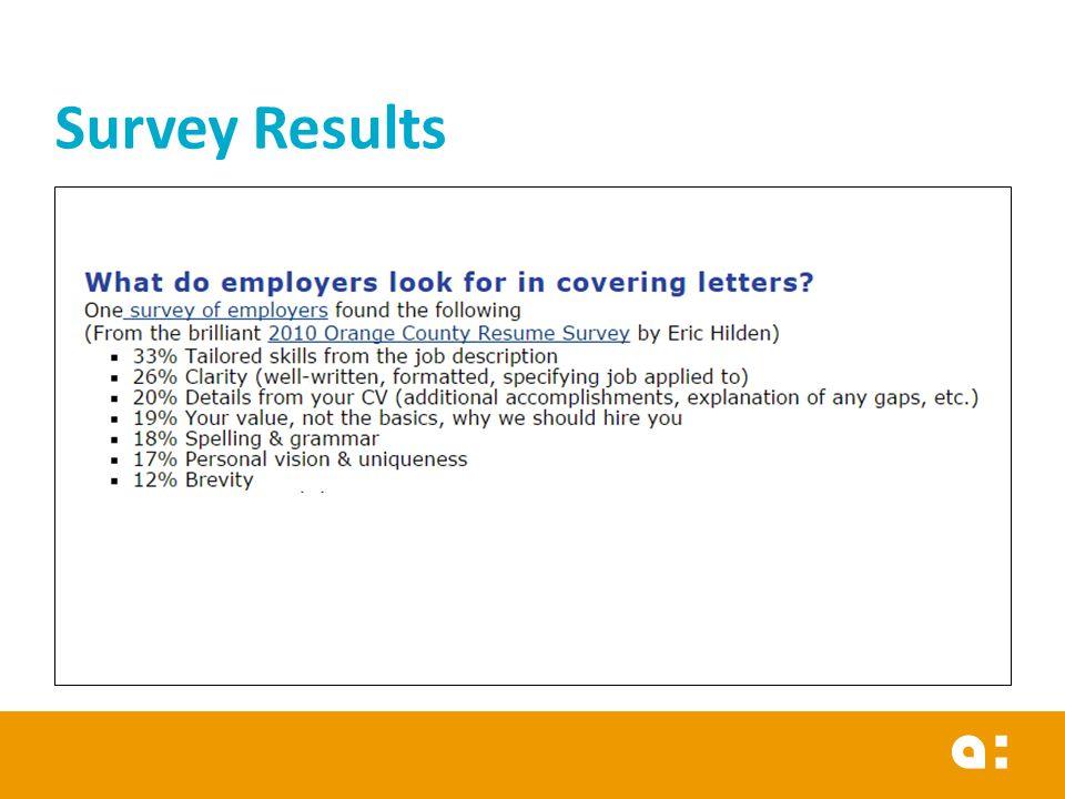 Empyment Communication Cover letter \ CV Professional English 2 - survey cover letter