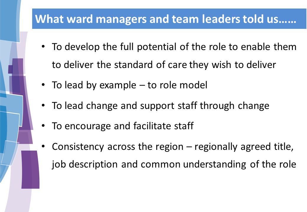 nursing job description out with the old in with the newu201d ward managerteam leader - Nurse Recruiter Job Description