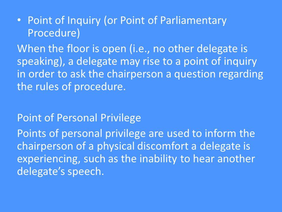 RECAP What is? Setting an agenda Opening speech/statement Motion