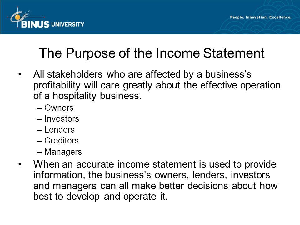 The Income Statement Chapter 3 Matakuliah V Manajemen Akuntansi