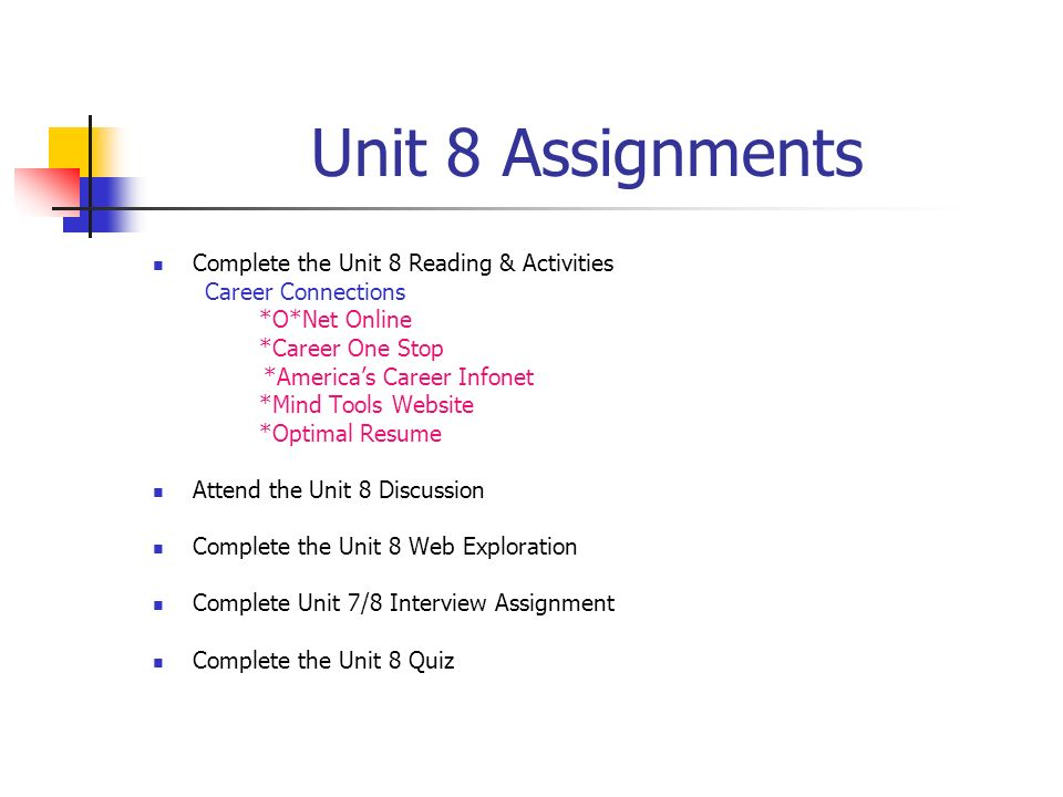 Welcome! Academic Strategies Unit 8 Seminar General Questions