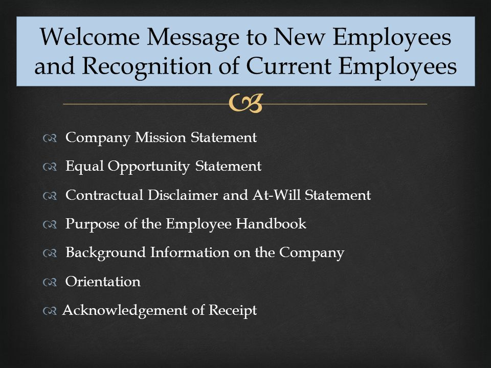 welcome message for new employees - Goalgoodwinmetals - welcoming messages for new employees