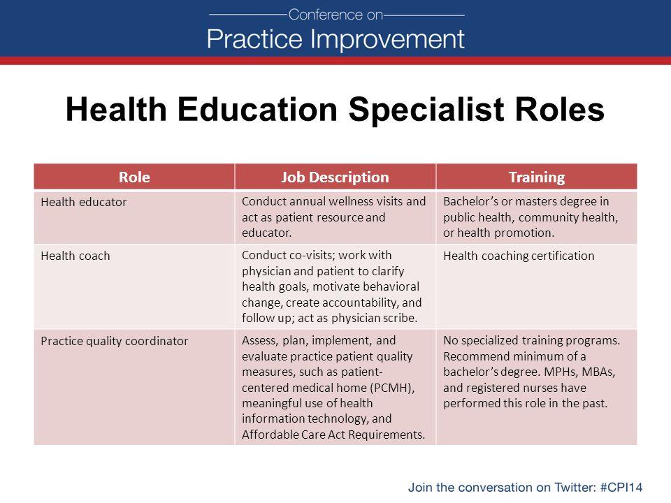health educator job description - Jolivibramusic - Physician Job Description
