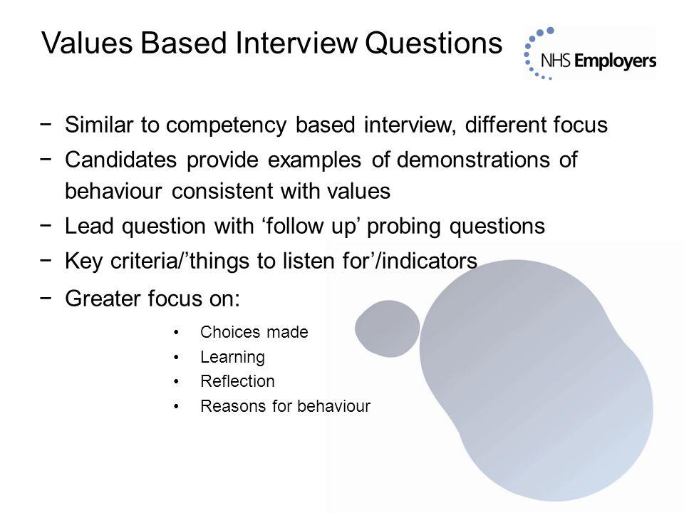 NHS Employers Values Based Recruitment \u0027\u0027Values Based Recruitment