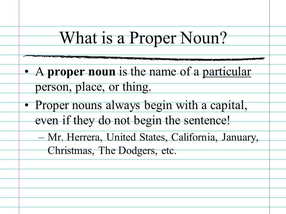 Parts of Speech Part I Nouns, Proper Nouns, Pronouns, Possessive