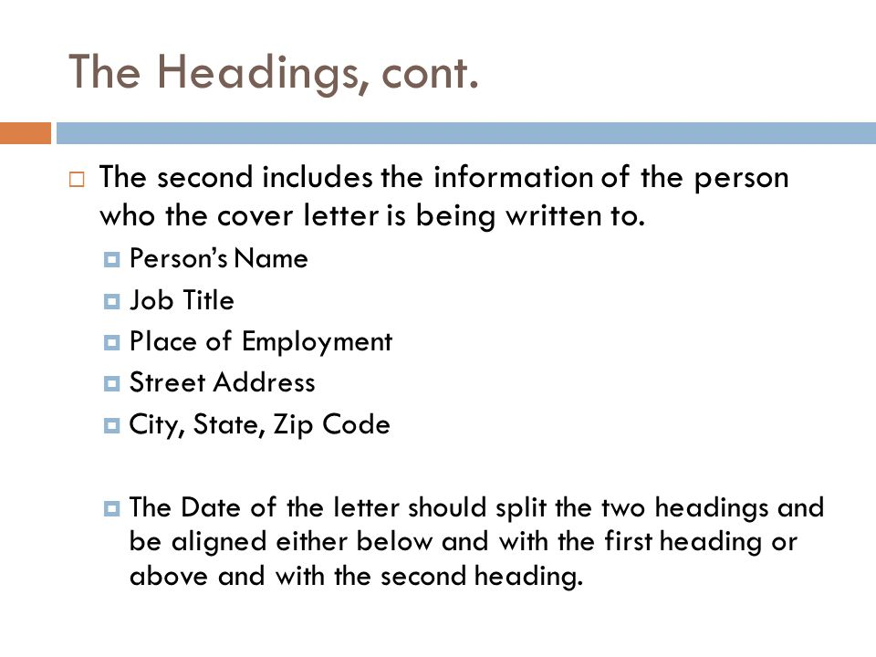 WRITING A COVER LETTER Career Education \u2013 Harrison Center - ppt