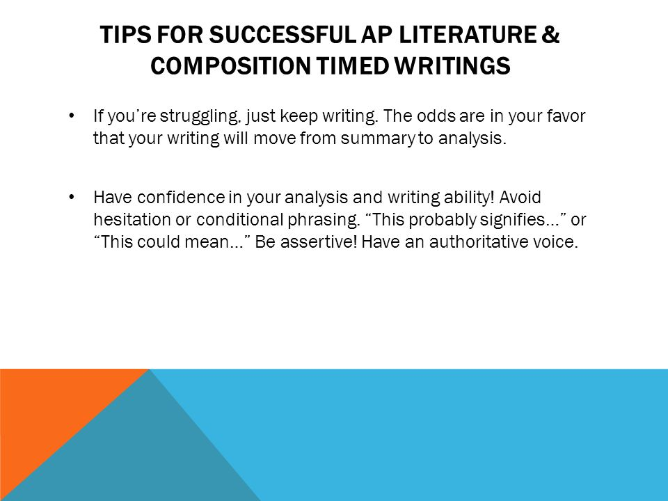 STYLE ANALYSIS WRITING FOR THE AP LITERATURE AND COMPOSITION EXAM