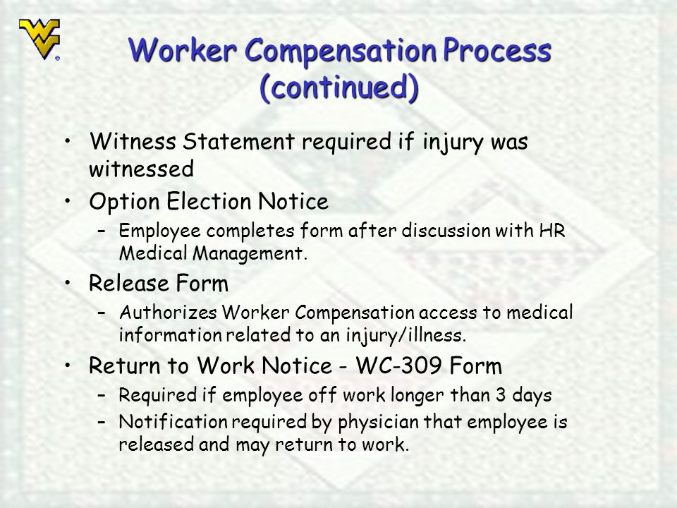 Leave Accrual and Usage Worker Compensation Process February 12 - worker compensation form