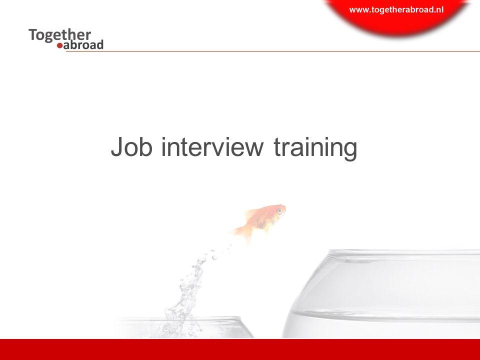 Job interview training Content  Introduction  Preparation