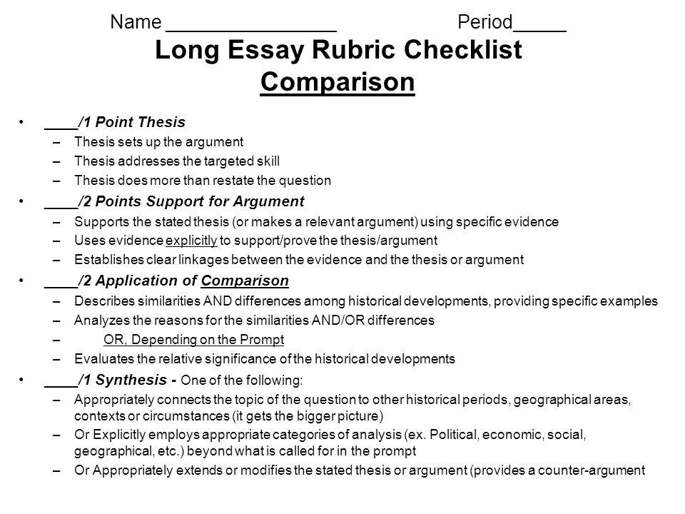 essay checklist - Seckinayodhya