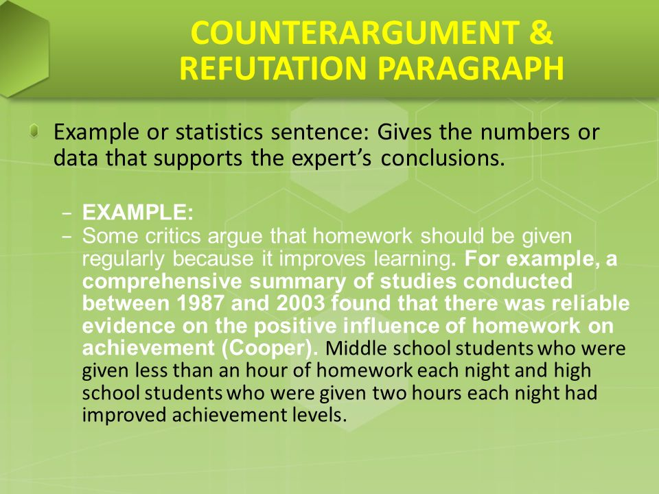 Argumentative essay counterargument refutation