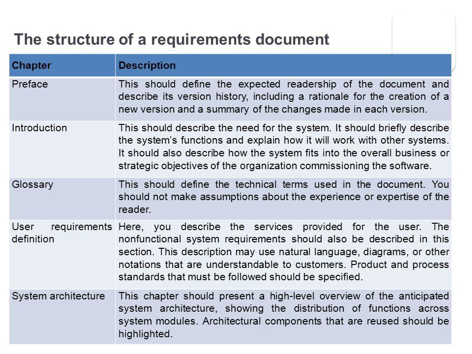 Software Engineering Requirements Engineering Requirements - business requirement documents