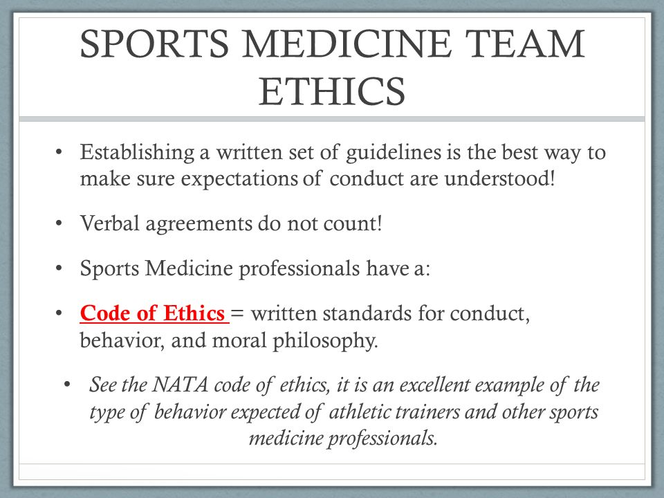 ETHICAL  LEGAL CONSIDERATIONS Scenario You are a high school ATC - Code Of Conduct Example