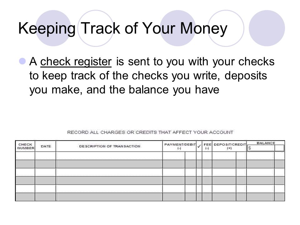 Chapter 3 Personal Banking 3-1 Checking Accounts If you have a