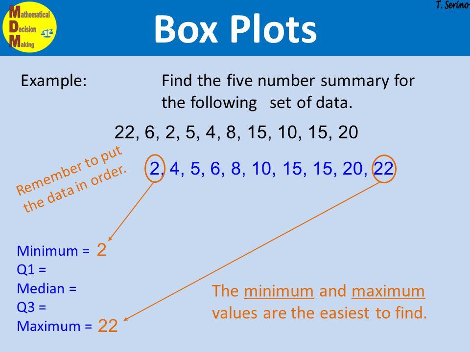 Probability  Statistics Box Plots Describing Distributions