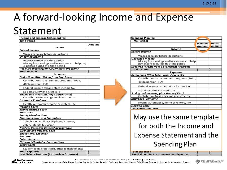 Spending Plans \u201cTake Charge of Your Finances\u201d Advanced Level - ppt