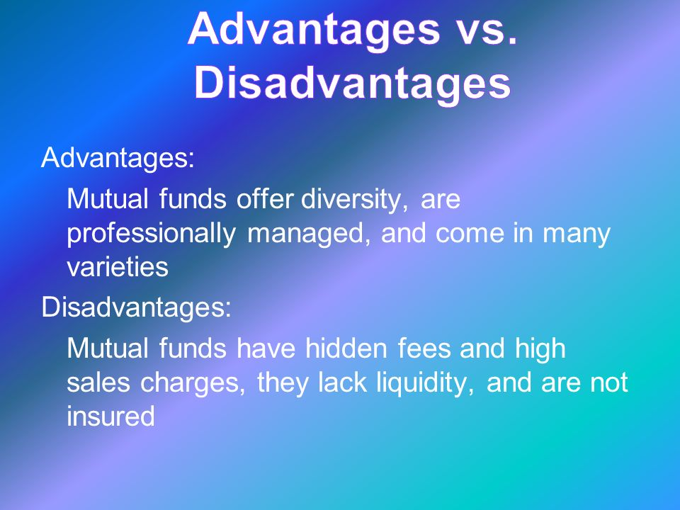 Mutual funds are investments in securities \u2013 such as bonds, stocks