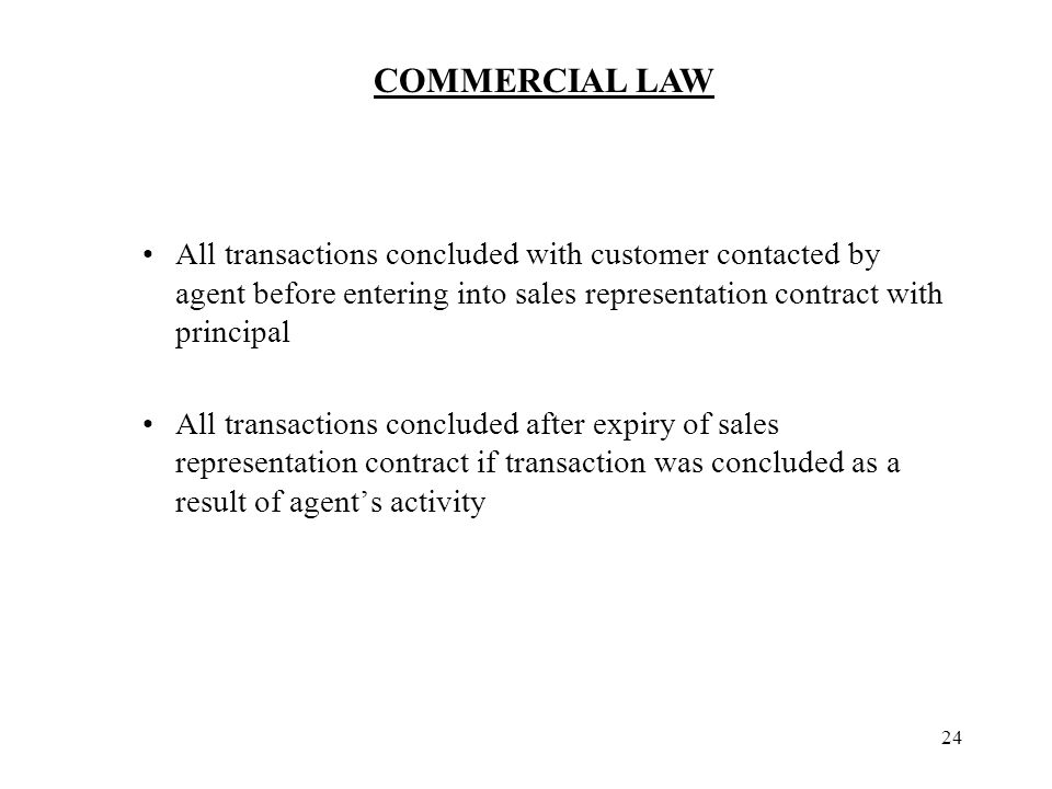 COMMERCIAL LAW 1 Purchase contract Definition Seller undertakes to - sales agent contracts