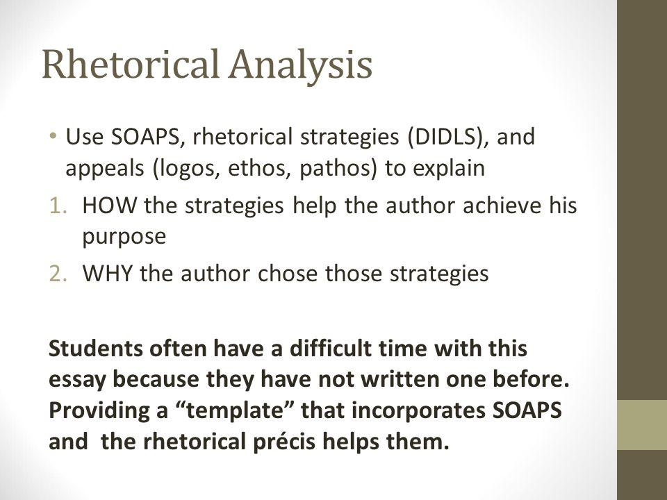 Rhetorical Précis and Rhetorical Analysis AP English Language and - rhetorical precis template