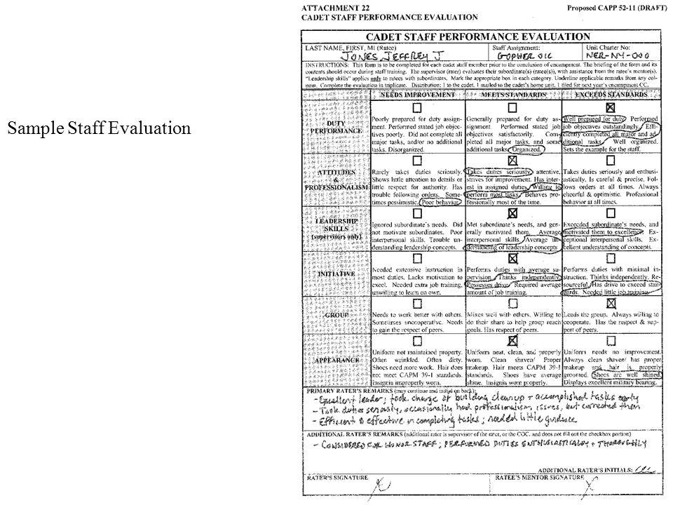 staff evaluation template