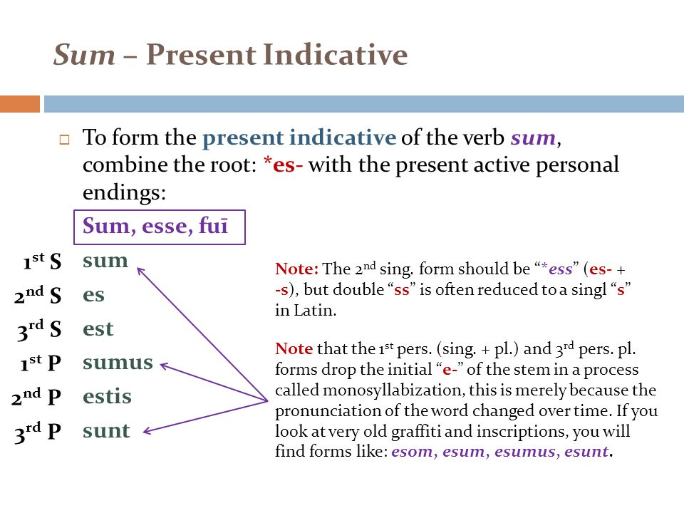 REVIEW TOPIC WEEK 2 Sum, Possum, Perfect Indicative System - ppt - p-l form