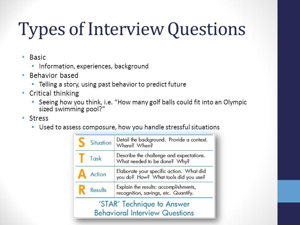 Behavioral Based Interviewing nfcnbarroom