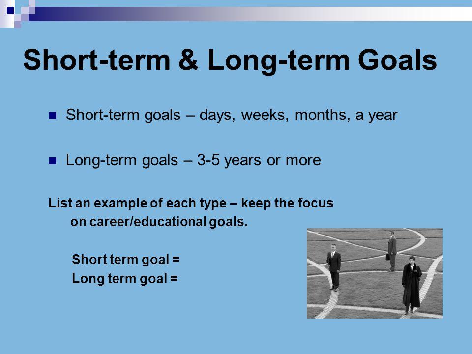 examples of short term goals - Selol-ink