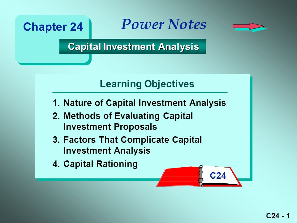 C Learning Objectives Power Notes 1Nature of Capital Investment