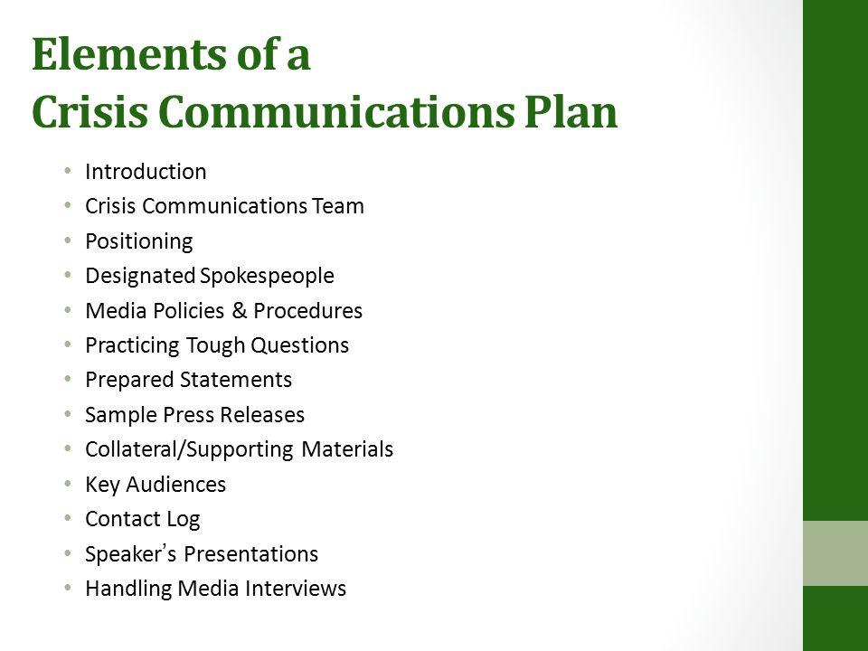 Strategic Communications Training Crisis Communications X State MDA