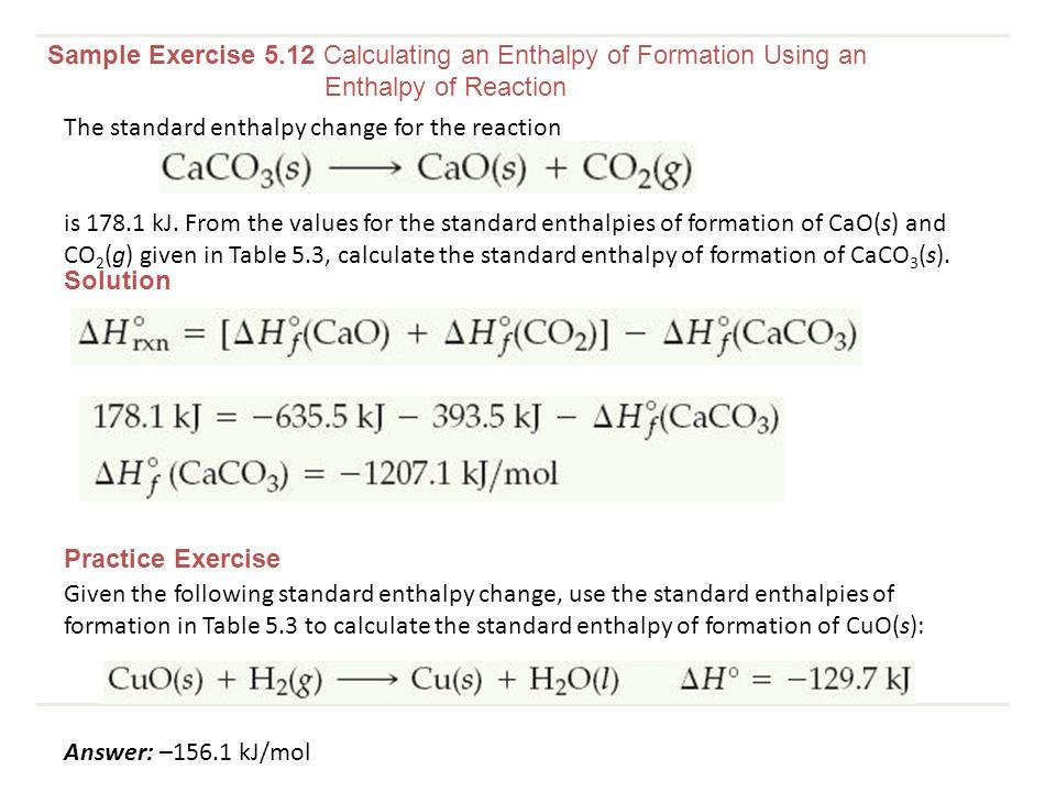 standard enthalpy of formation chart - Heartimpulsar