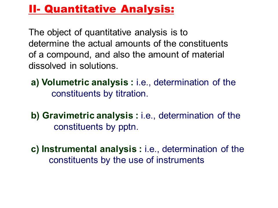 Quantitative Chemical Analysis Basic Chemical Analysis With Edx On