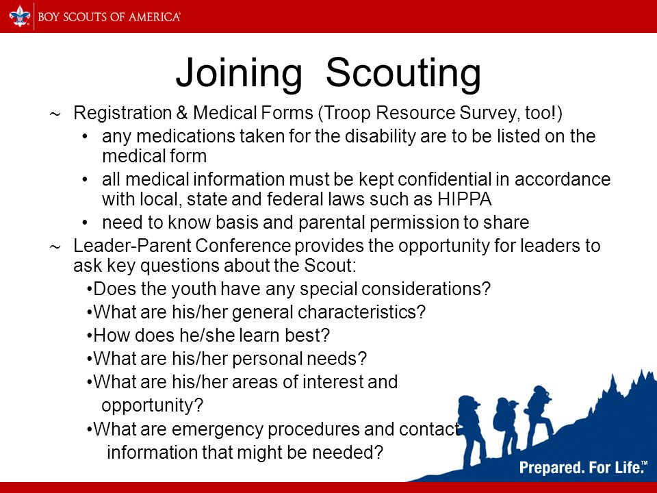 MCS 322 Advanced Special Needs Scouting Why Increase Disability