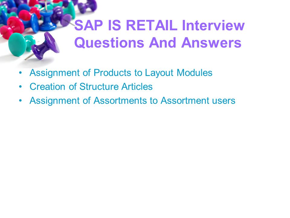 Sap is retail online training contact us call website mail - ppt - retail interview questions