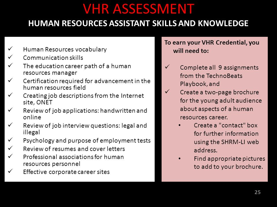 Virtual Intern Human Resources Assistant A Workforce Readiness