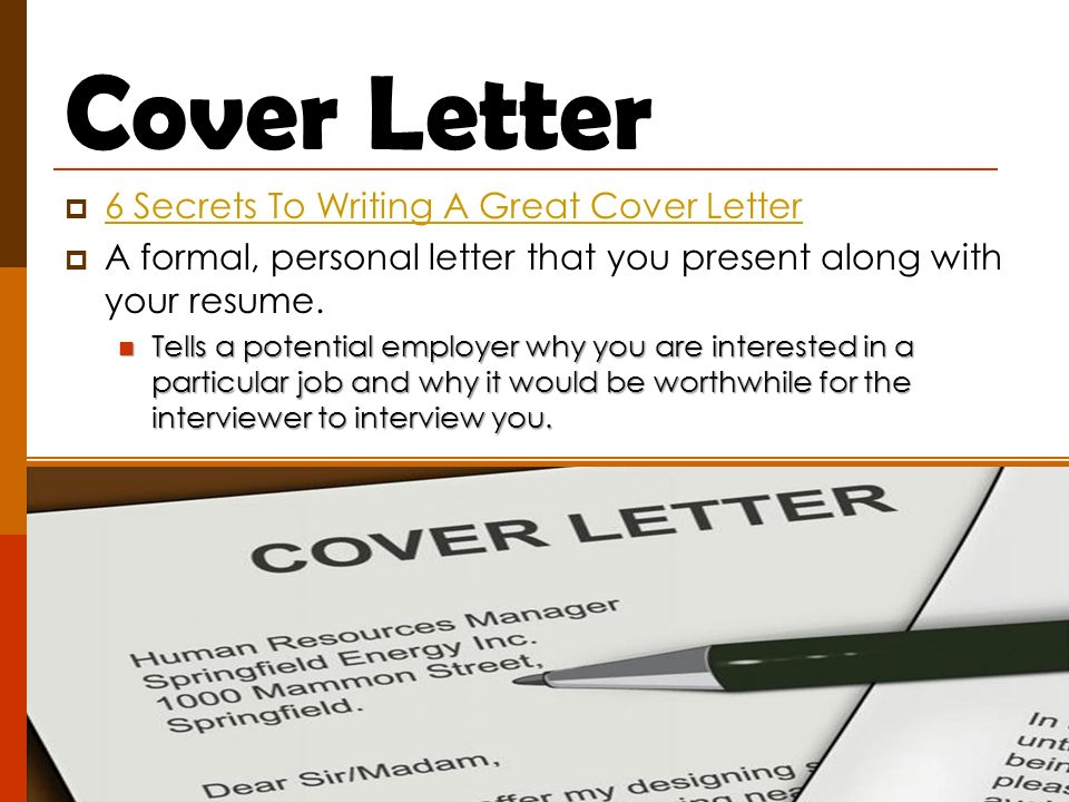 Planning for a Job What kinds of things do you need to do to help - great cover letter secrets