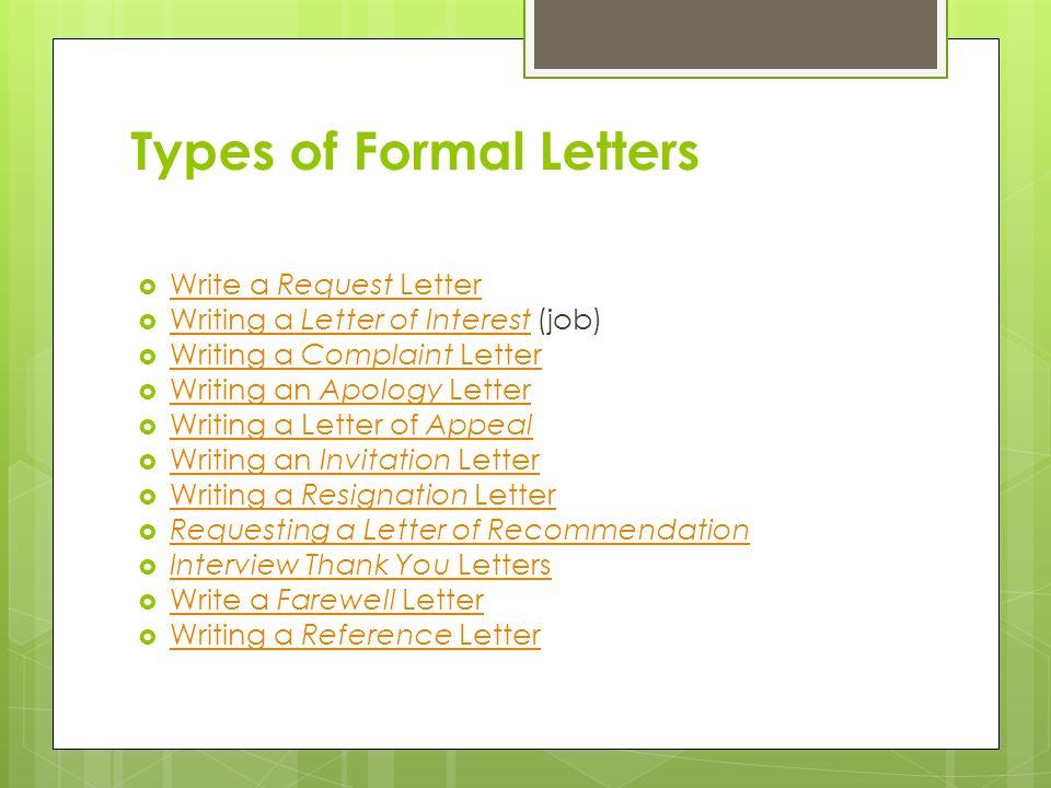 Writing a Formal Letter Formal letter writing\u2026  Formal letter