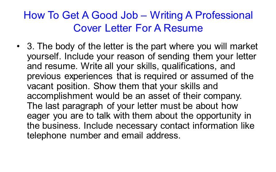 The Job Application Process- The Written Job Presentation Chapter