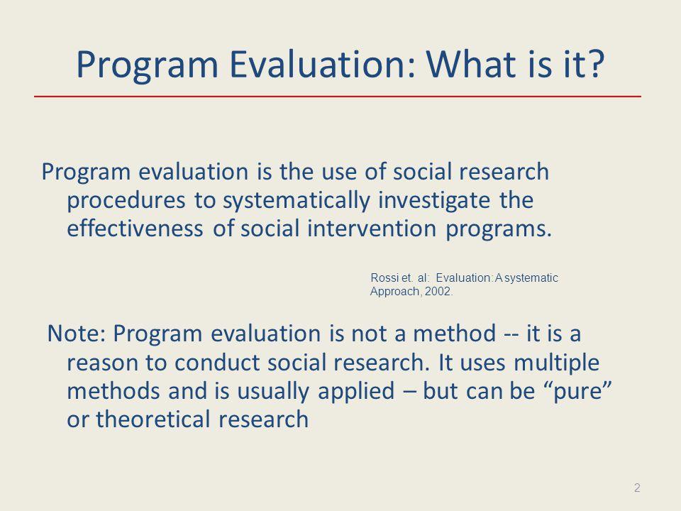 Program Evaluation Basics Dennis McBride, PhD Analytical Techniques