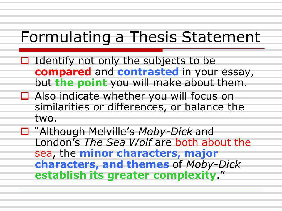 Write thesis compare contrast essay » Business plan for - how to make a compare and contrast essay